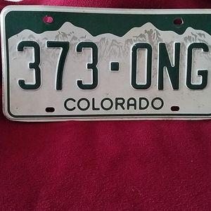 Collectible Colorado license item